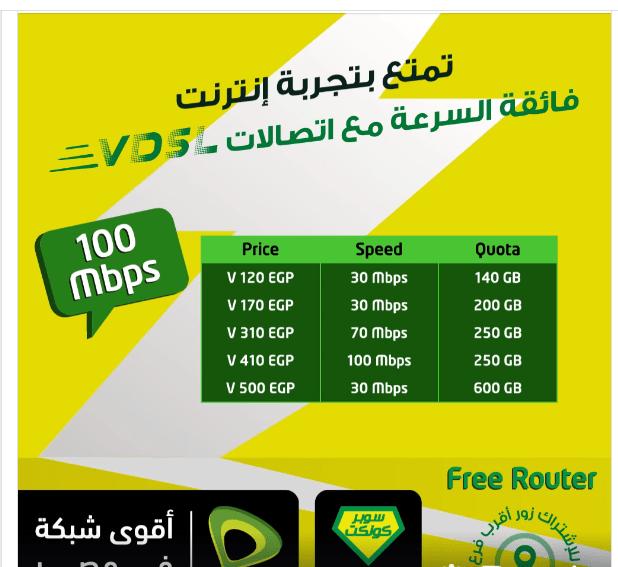 تفاصيل أسعار باقات اتصالات للإنترنت المنزلي ADSL